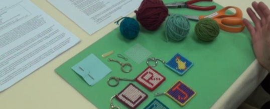 Needlepoint Key Ring Assessment How to Make a Sample